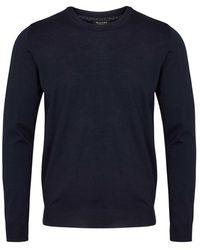 Sand O-neck knitwear - Blau