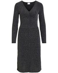 Vila Vishinni L/s Glitter Dress - Zwart