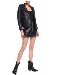 AllSaints - 'Elva biker jacket Negro - Lyst