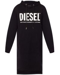 DIESEL Robe sweat à capuche - Noir