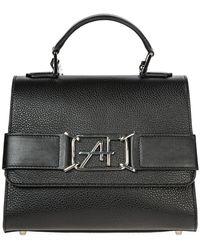 Alberta Ferretti Women's Leather Handbag Shopping Bag Purse - Zwart