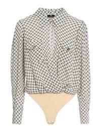 Elisabetta Franchi Body Shirt - Natur