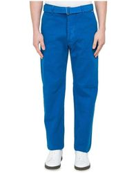 AMI Large Fit Jeans With Belt - Blauw