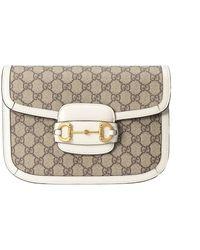 Gucci Horsebit Crossbody Bag - Naturel