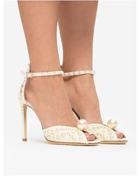 Jimmy Choo - Sacora heeled sandals Blanco - Lyst