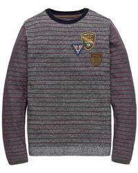 PME LEGEND Striped Sweatshirt - Grijs