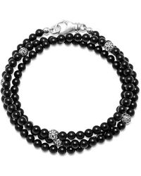 Nialaya The Mykonos Collection - Matte Onyx And Silver - Zwart