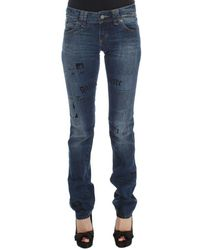 John Galliano Slim Fit Bootcut Jeans Azul