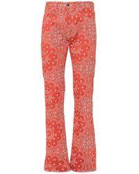 Formy Studio Jeans With Bandana Print - Rood