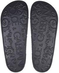 Dolce & Gabbana Slide Sandals Negro