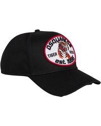 DSquared² Tiger Rider Cap - Zwart