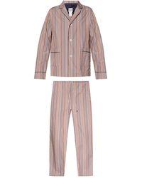 Paul Smith Tweedelige Pyjama - Naturel