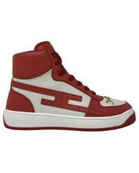 Elisabetta Franchi High-top sneakers - Rojo