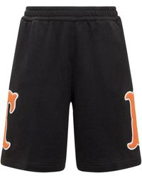 Burberry Shorts With Monogram - Zwart