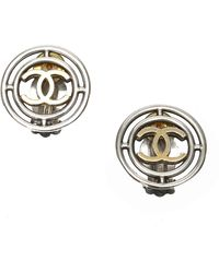 Chanel Vintage CC Clip-on Earrings - Gris