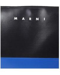 Marni ZIP Clutch Azul - Negro