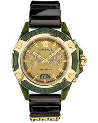 Versace Icon Active Chronograaf Vez700321 Watch - Zwart