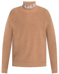 Iceberg Turtleneck sweater with logo - Neutro