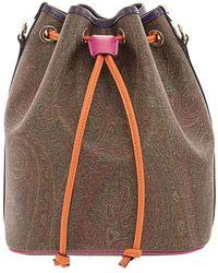 Etro Paisley Bucket Bag - Bruin