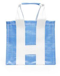 Comme des Garçons Shirt Bicolor Shopper - Blauw