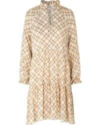 Second Female Kate Ls Midi Dress - Naturel
