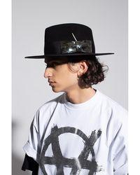 Nick Fouquet Chrome Luna hat with bow Negro