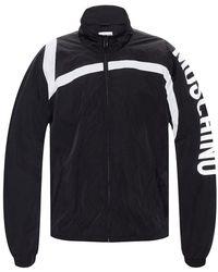 Moschino Jacket With Logo - Zwart