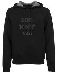 Kiton Viscose hooded sweatshirt - Noir
