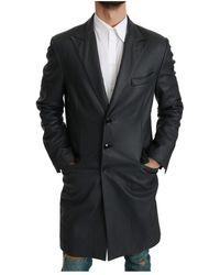Dolce & Gabbana Formeel Lange Trenchjas Jacket - Grijs
