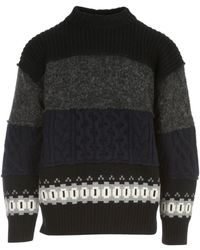 Sacai Knit pullover - Negro