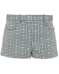 Givenchy Shorts With Print All-over - Grijs