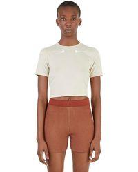 Nike Swoosh Cropped T-shirt - Naturel