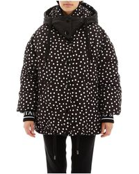 Dolce & Gabbana Reversible Puffer Jacket - Zwart