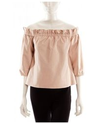 DROMe Leather Top - Roze