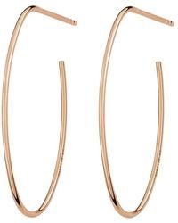 Ginette NY Ellipse Hoop Earrings - Geel