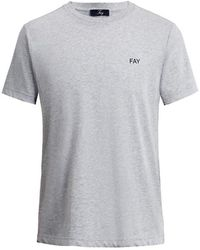 Fay T-shirt Npmb3401300pku B208 - Grijs