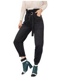 Patrizia Pepe Extra Balloon Black Jeans - Zwart
