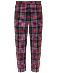 Vivienne Westwood Checked trousers - Rouge