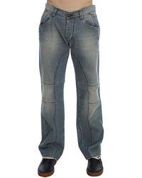 Ermanno Scervino Wash Denim Baggy Fit Jeans - Blu