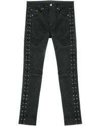 Garçons Infideles Skinny Laced Leather Pants - Zwart