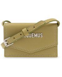 Jacquemus 'le Porte Azur' Strapped Card Case - Groen
