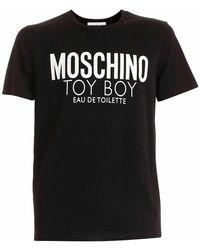 Moschino T-shirt Met Ronde Hals - Zwart