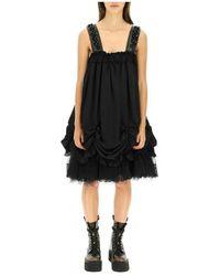 Simone Rocha Georgette mini dress - Negro