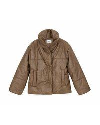 Nanushka Hide Puffer Snake Vegan Leather Jacket - Bruin