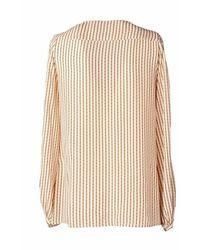 Attic And Barn Attic & Barn Rena Panna Righe Shirt - Blanc
