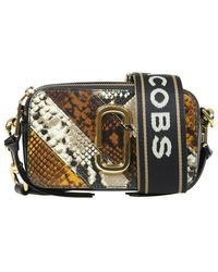 Marc Jacobs Bag In Leather With Python Print - Bruin