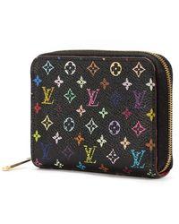Louis Vuitton Multi Color Portemonnee - Zwart
