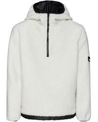 Rains Fleece Jacket - Bianco