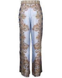 Zimmermann Luminous Paisley Pants Azul