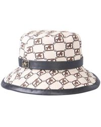 Alberta Ferretti HAT With Logo Print - Neutre